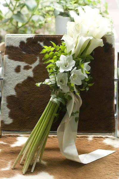 wedding bouquet calla lily for mother