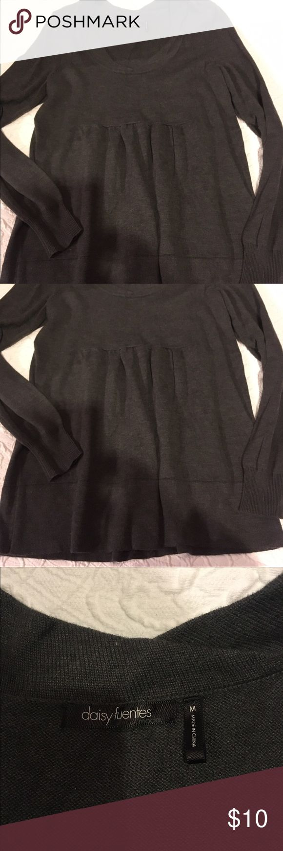 Daisy Fuentes Charcoal Dark Grey Sweater M Daisy Fuentes Charcoal Dark Grey Women's Sweater Size M. Perfect Condition! Never Been in the dryer! Daisy Fuentes Sweaters Crew & Scoop Necks
