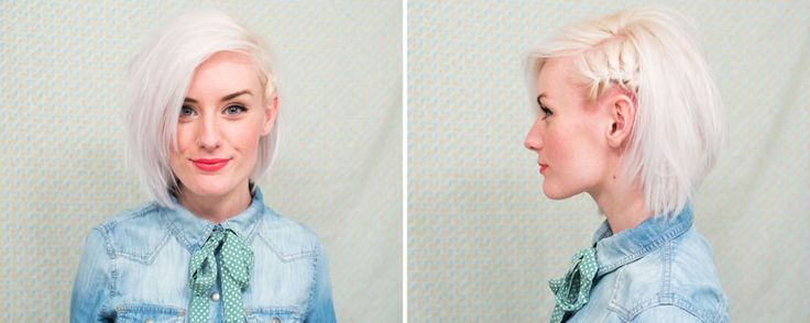 short hair style: faux side shave/braid  |  indiejane