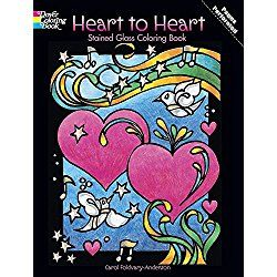 Valentines Day Coloring Book for Kids: Heart to Heart Stained Glass Coloring Book
