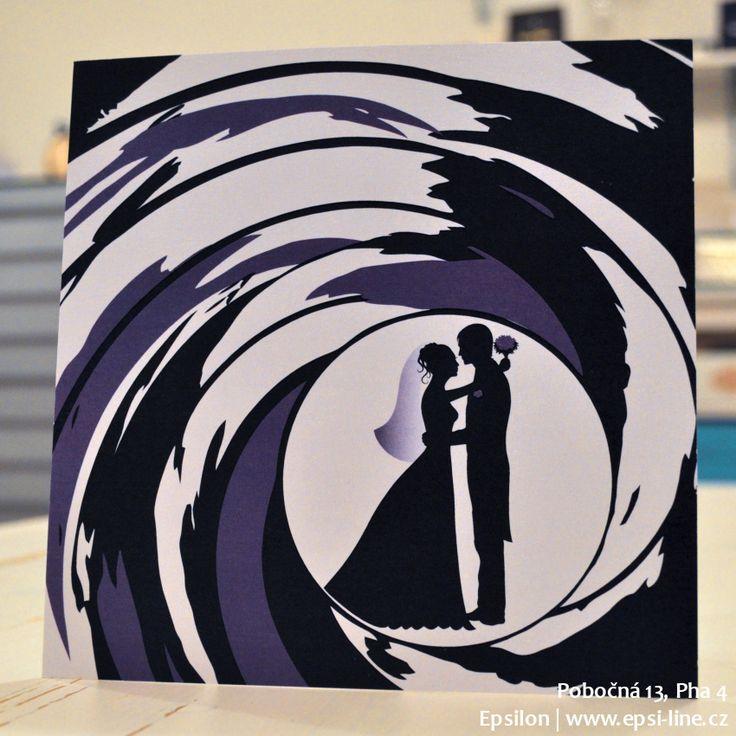 Fialová Bond svatba