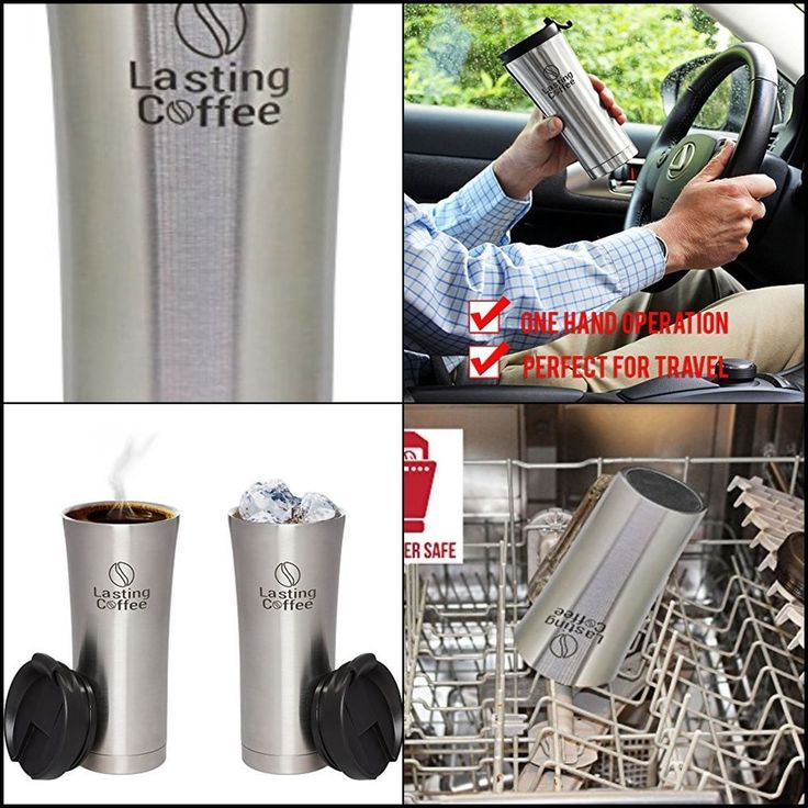 Stainless Steel Double Wall Vacuum Insulated Travel Mug Coffee Thermos LeakProof #LastingCoffee #coffeethermos