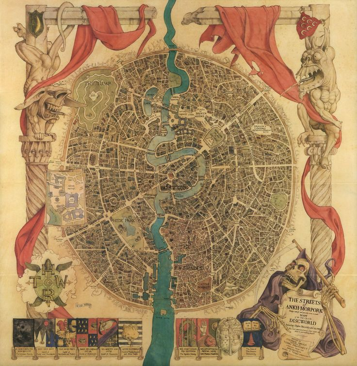 The Streets of Ankh-Morpork (Discworld Series, Terry Pratchett) - The River Ankh as a tattoo?
