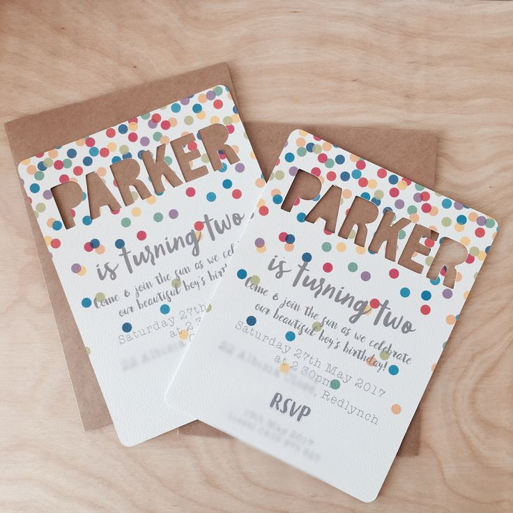 Multicoloured confetti invitations / Piccolo Studio