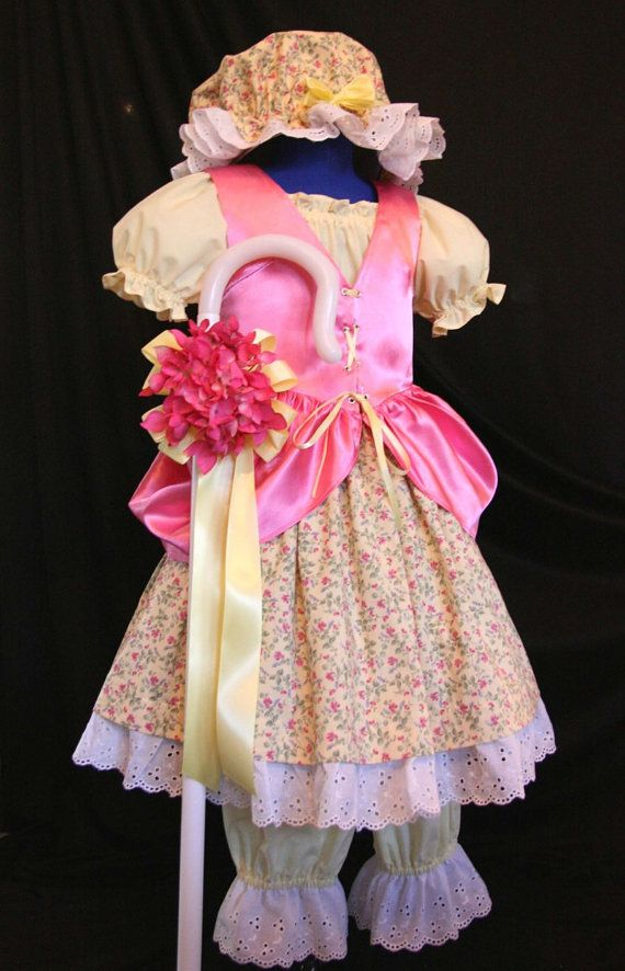 Little Miss MUFFET/Bo PEEP Costume Custom CHILD Size by mom2rtk, $269.99