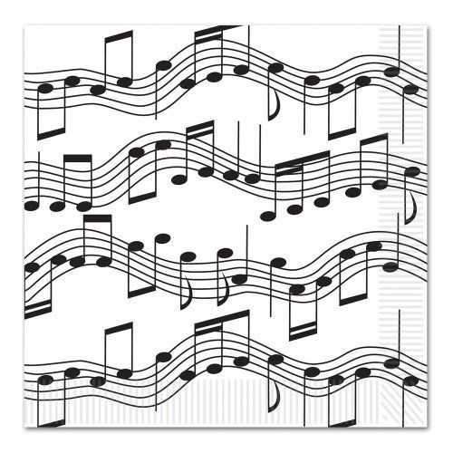 Music Notes Dinner Napkins by Beistle. $5.75. Design is stylish and innovative. Satisfaction Ensured.. 16 Per pack. Manufactured to the Highest Quality Available.. The Beistle Company is the oldest and largest manufacturer of decorations and party goods. With unsurpassed service and top quality products its easy to understand why The Beistle Company is world renowned in the Party Goods Industry. Our decorations and party goods are manufactured from the finest and highest quali...