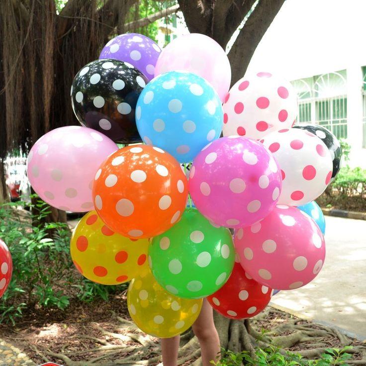 "10/20/50/100x 12"" Latex Polka Dot Balloons Party Wedding Holiday Xmas Decorating #Unbranded #AnniversaryBirthdayBabyShowerParty"