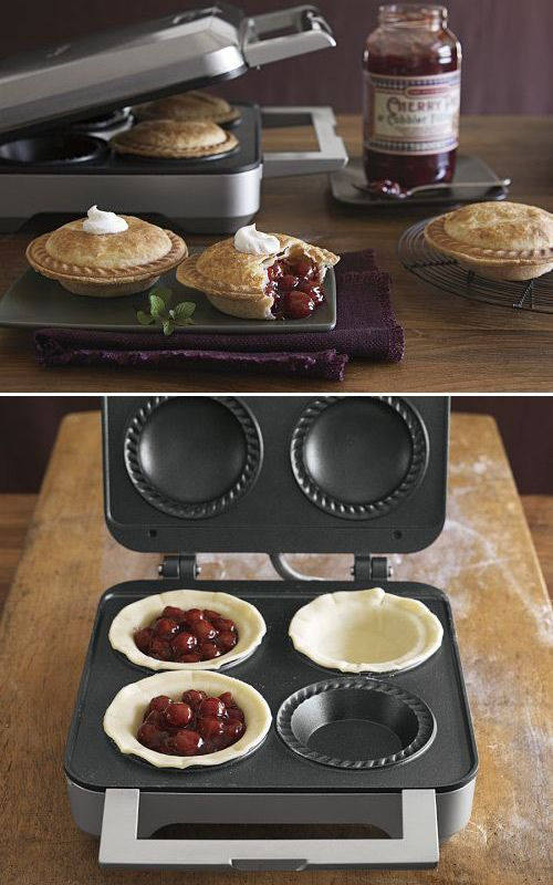Half of me thinks this is cheating.  Half of me wants to have it and make small pies every day.  Williams & Sonoma Breville Pie Maker