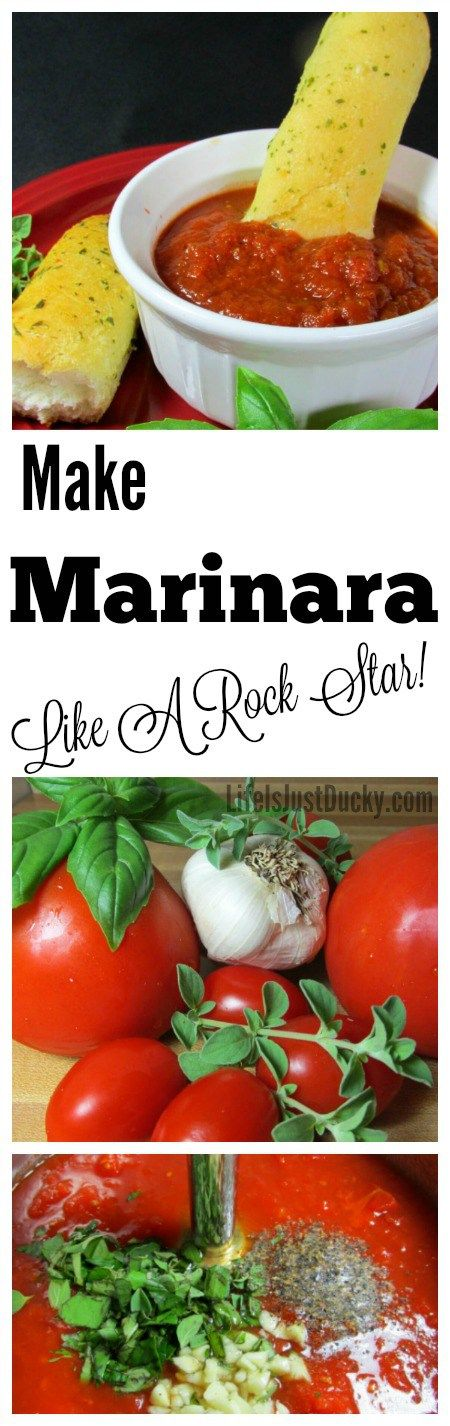 Homemade Marinara Sauce. This recipe is so good and so adaptable and at the same time SO EASY! Use fresh tomatoes from your garden or canned. This will be your new family favorite.