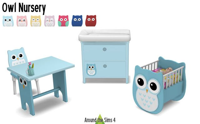 Sims 4 CC's - The Best: Nursery Owl by Around the Sims 4