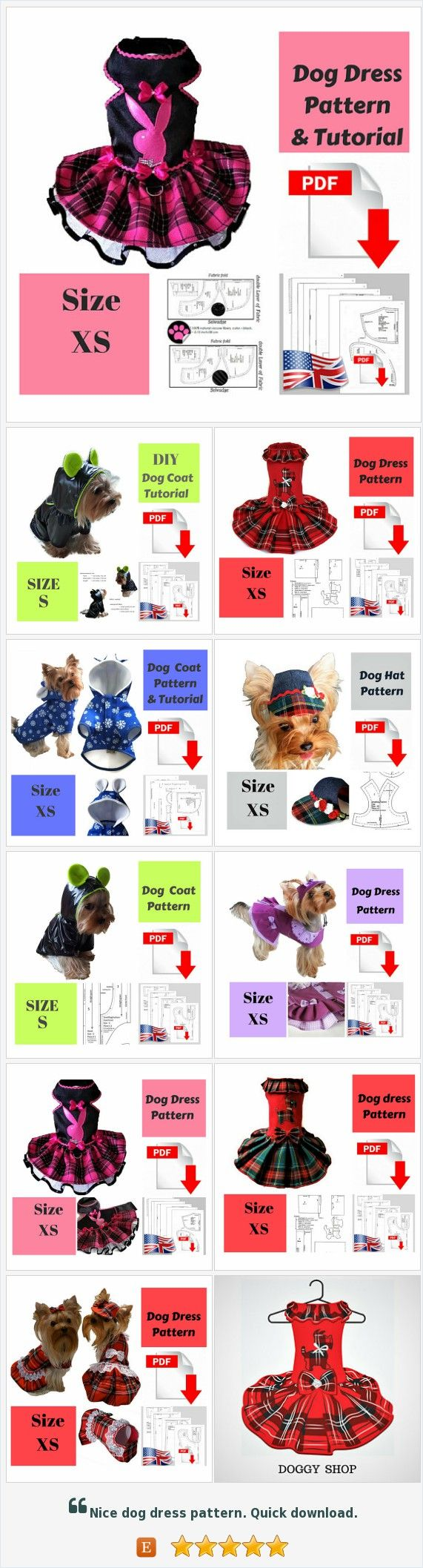 Small #dog #clothes, Hats, Bandanas, #Patterns & #Tutorial by SmallDogFashion https://www.etsy.com/shop/SmallDogFashion?ref=l2-shopheader-name&section_id=22499733