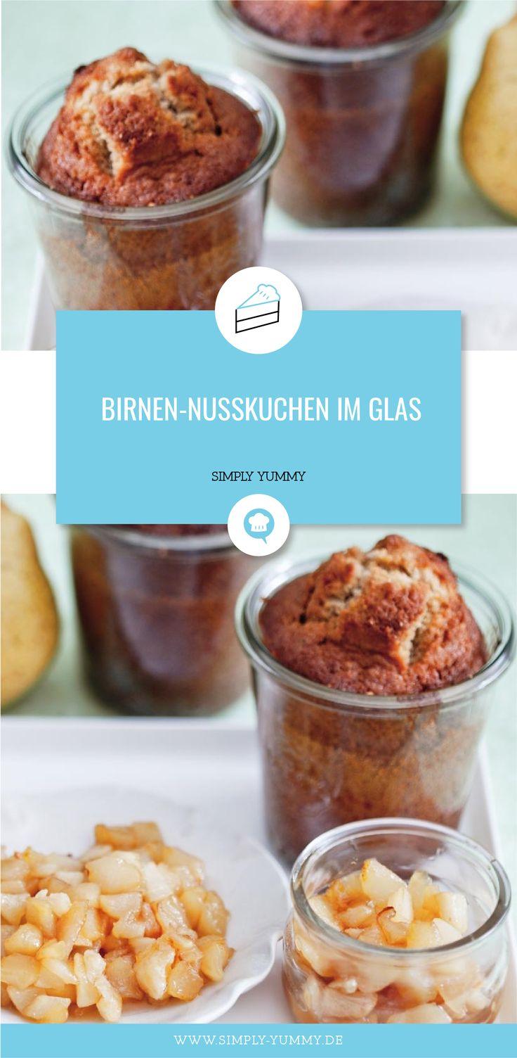 Birnen-Nuss-Torte in Glas # Birne # Nuss # Torte # Tortenglasur # in # Glas    – Food- can it/ gift it