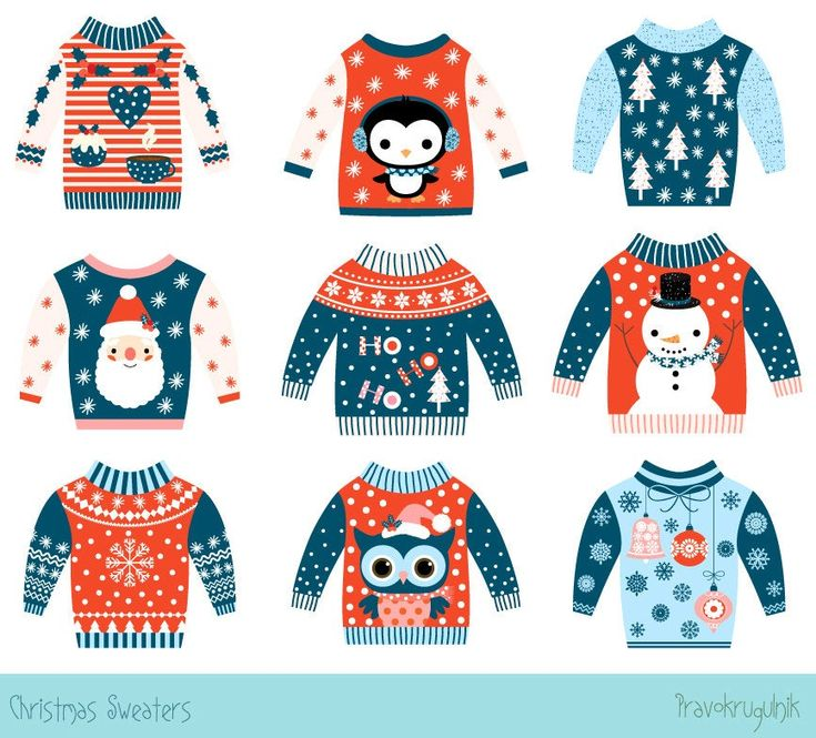 48+ Ugly christmas sweater clipart free ideas