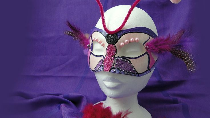 Masca pentru carnaval, model fluture 🎭