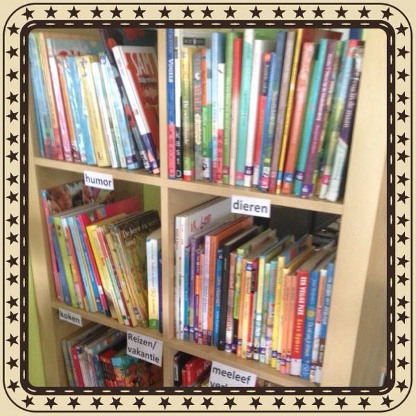 In de klasbibliotheek de boeken op genre zetten. Zo wordt het een stuk makkelijker zoeken naar een soort boek dat je wilt lezen:) Albertine van Slooten