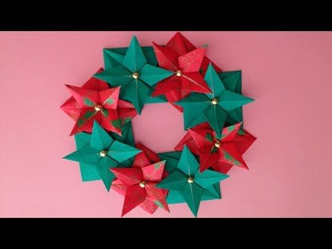 Origami Maniacs 93: Beautiful Christmas Wreath...... - YouTube
