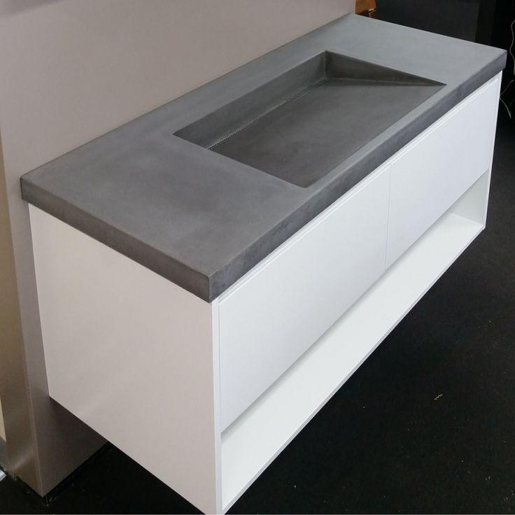 Concrete Ramp Vanity basin
