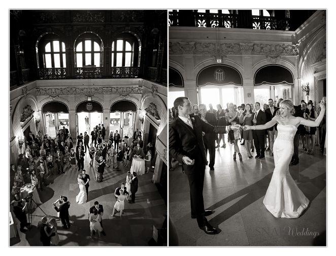Ochre Court Wedding, First Dance, Salve Regina, Bride and Groom,  © Snap Weddings