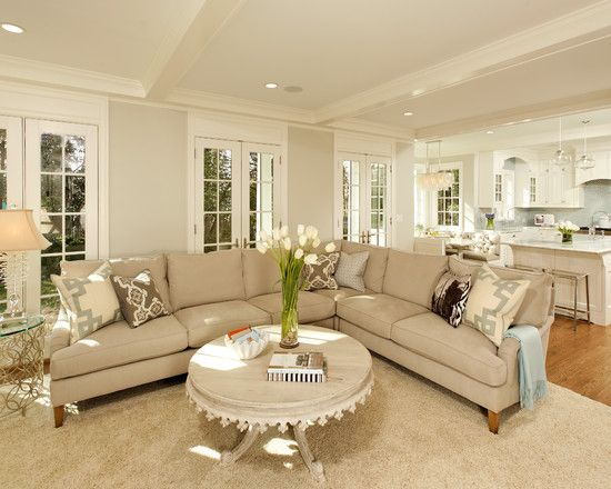 Neutral Color Scheme. Tan Sofas With Beige Shag Carpet Is A Nice Blend Of  Soft. Traditional Living RoomsTraditional ...