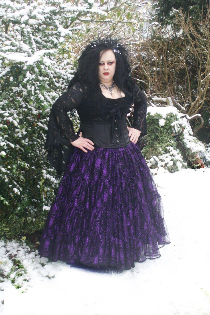 Gothic fairy Cobweb petticoat all sizes by NightshadesClothing on Etsy