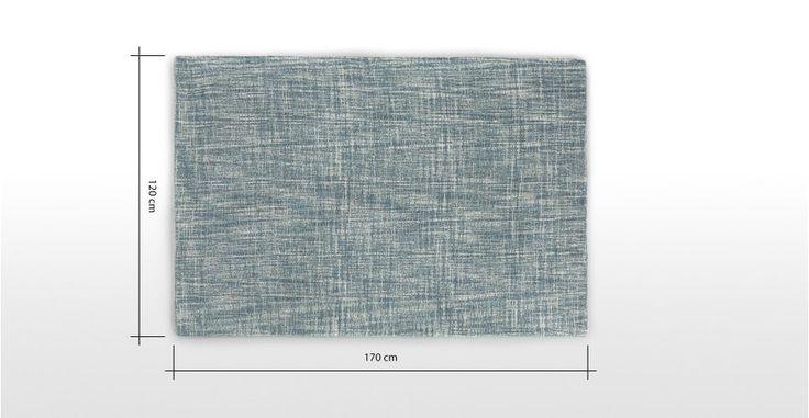 Sketch Rug 120 x 170 cm, Denim Blue | made.com
