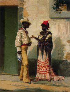 Víctor Patricio Landaluze, Los Negros Curros, 1881 Flares! Fashion forward Cuba!