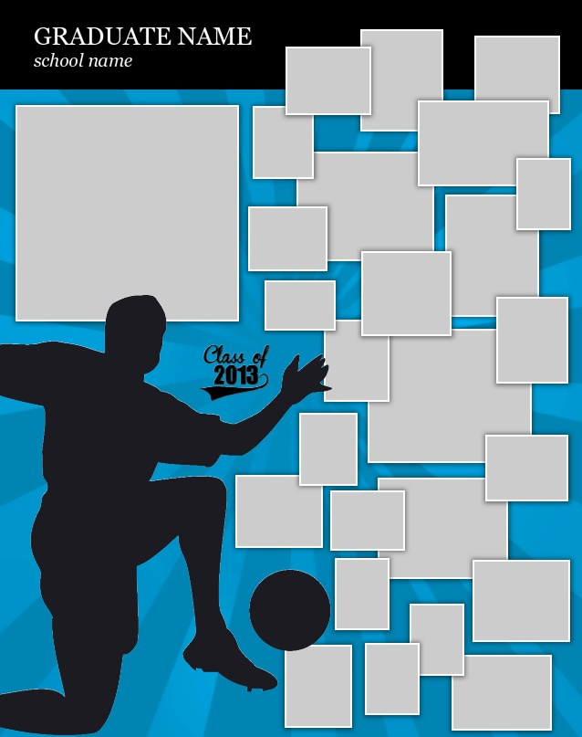 Soccer Poster Template Use our FREE software to create a poster - foot ball square template