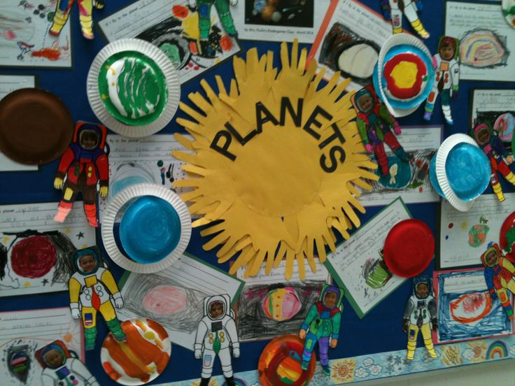 Space planets bulletin board