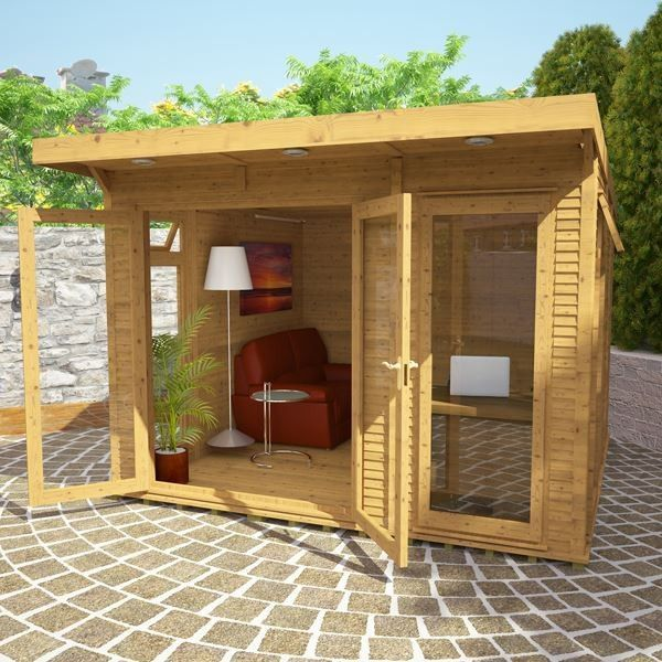 Avon 3m x 3m Insulated Garden Room - http://www.sheds.co.uk/log-cabins/insulated-garden-rooms/avon-3m-x-3m-insulated-garden-room.html