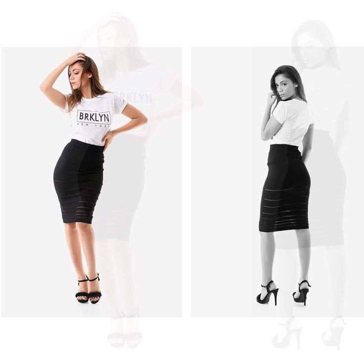 Knitted midi skirt with front and back transparent detail. Elastic waist. 80% Viscose. 20% Naylon. https://www.modaboom.com/minti-plekti-fousta-mauro-el-en.html