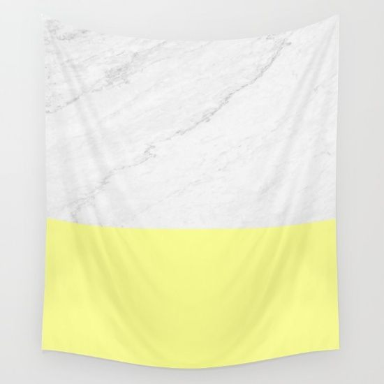 Marble and Yellow Wall Tapestry by ARTbyJWP in Society6 #artbyjwp #society6 #tapestry #walltapestry #marble #yellow - Available in three distinct sizes, our Wall Tapestries are made of 100% lightweight polyester with hand-sewn finished edges. Featuring vivid colors and crisp lines, these highly unique and versatile tapestries are durable enough for both indoor and outdoor use. Machine washable for outdoor enthusiasts, with cold water on gentle cycle using mild detergent tumble dry with low…