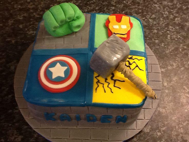 Kaiden's 5th birthday cake avengers