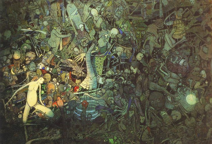 """jareckiworld: """"Josef Váchal -  Plán Elementální (Plán vášní a pudů, 1910) """""""