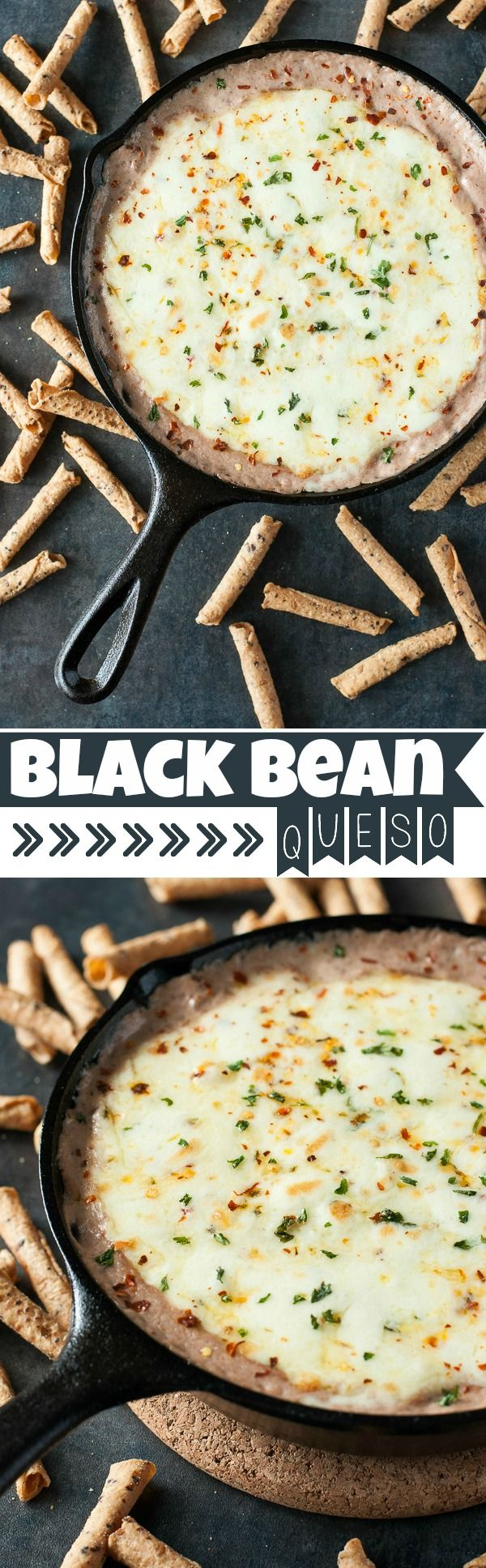 Black Bean Queso :: bold black beans and cheesy pepper jack are a match made in dipping heaven! Everyone loves this easy cheesy black bean dip!