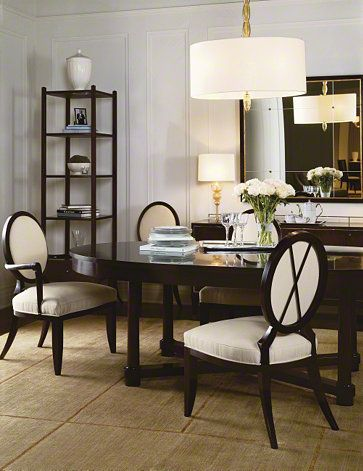 Baker Furniture : Oval Dining Table   3439 : Tables : Barbara Barry :  Browse Products