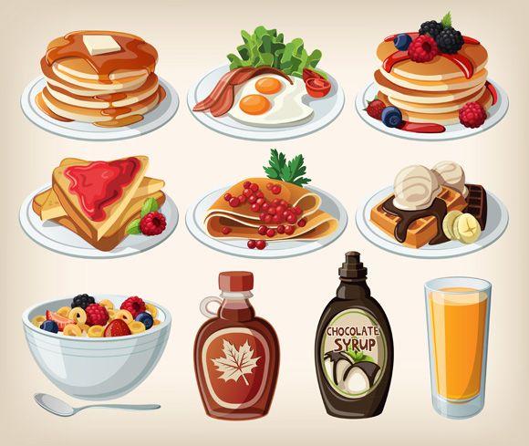 Cartoon Food | Cartoon fast food icons 2 | GoodVector