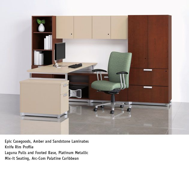 National Office Furniture   Epic Casegoods With Mix It Task/work Seating In  Private