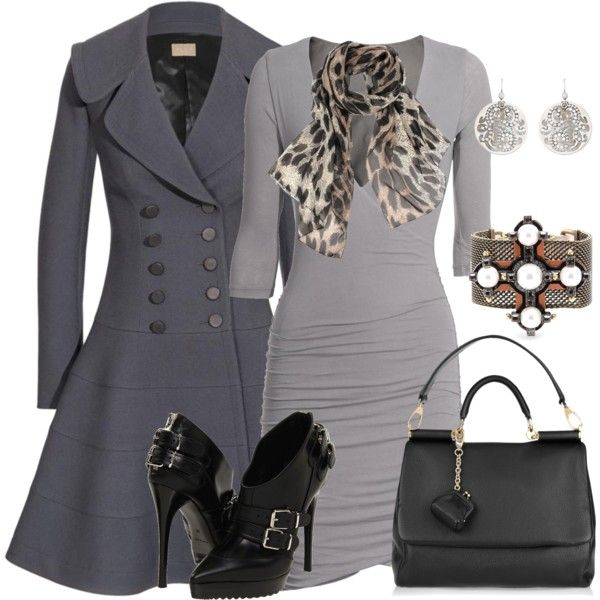 gorgeous greys!!Shoes, Fashion, Style, Clothing, Winter Outfit, Work Outfit, The Dresses, Grey Dresses, Coats