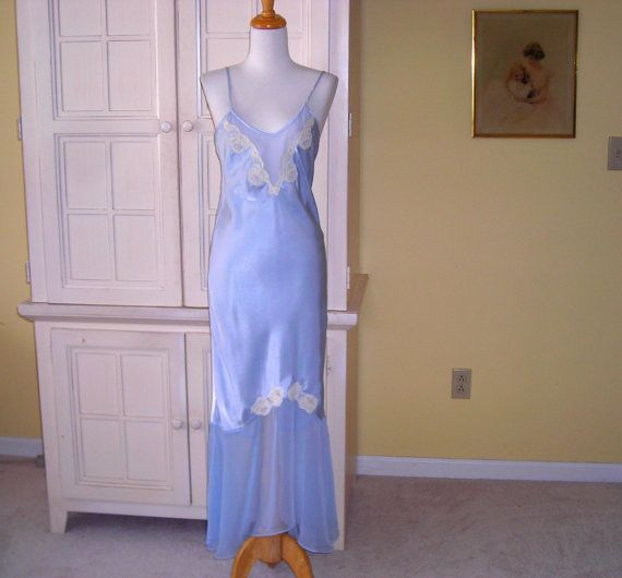 Hey, I found this really awesome Etsy listing at https://www.etsy.com/listing/221628464/vintage-victorias-secret-long-sexy-blue