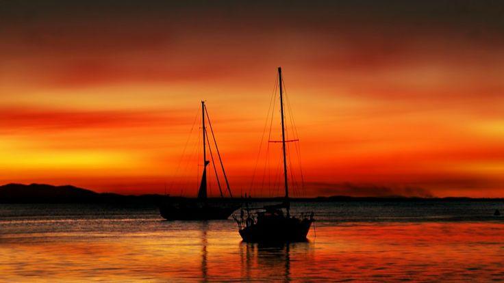 Sunset Yachts at Seventeen Seventy, Australia by Chris KIELY on 500px