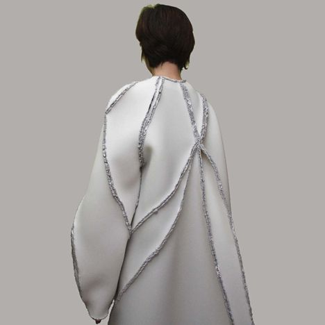 """Fashion designer Zita Merényi has replaced sewing with soldering to create a collection of garments with """"scar lines"""" rather than seams."""