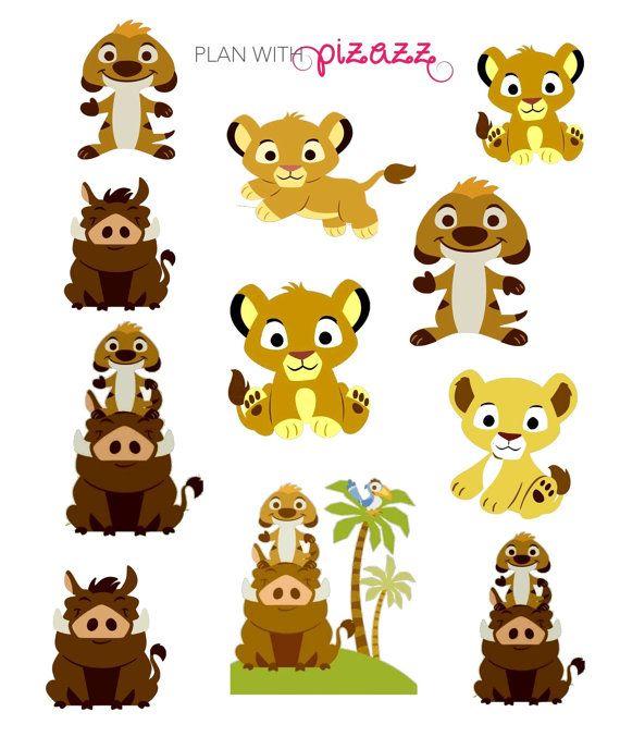 Disney THE LION KING Inspired Themed Sticker Sheet perfect for Erin Condren…