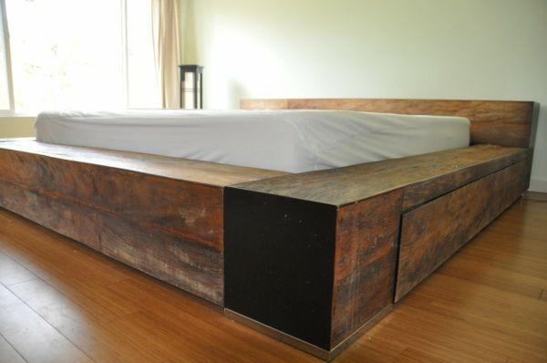 Real Wood Platform Bed