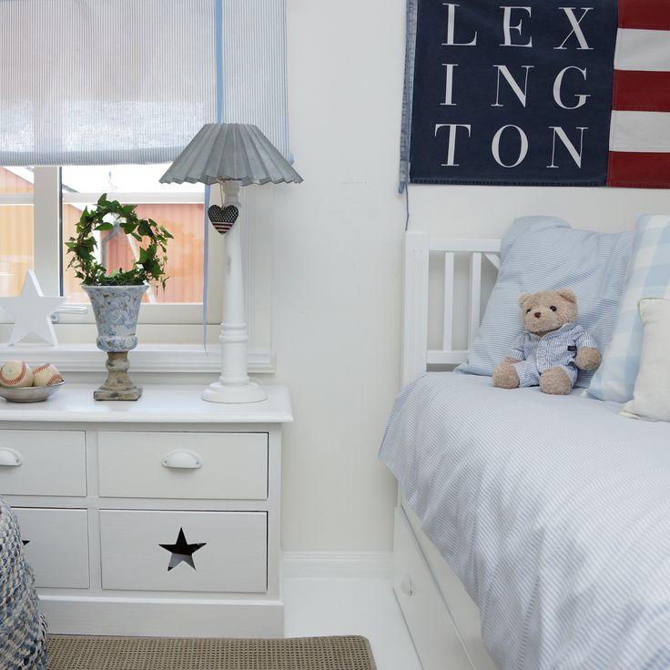 Flag, heart, lexington company, star, stars and stripes, boys room, boysroom, inspiration, light blue, pojkrum, molban, barnrum
