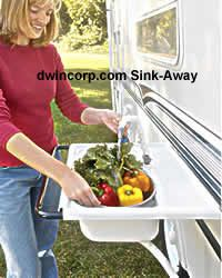 A Handy Exterior Portable Sink For Your RV Camping