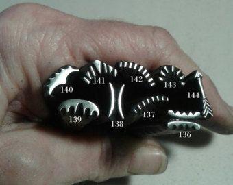 Handmade Metal Stamps, jewelry making tools, metal stamping tool, leather stamping, native stam, tribal stamp, metal punch