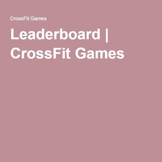 Leaderboard | CrossFit Games