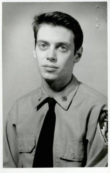 Steve Buscemi during his days as a New York firefighter. [1976].  Buscemi rejoined his old engine company following 9/11 and helped search for survivors at Ground Zero.  30 Rare Photos Of Celebs From Before They Were Famous