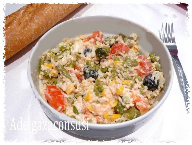 Recetas Light - Adelgazaconsusi: Ensalada de arroz con mayonesa ligera exprés