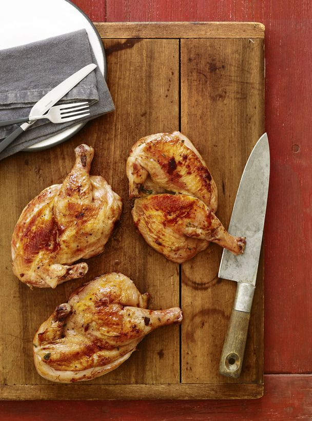 Brick Chicken #FNMag #myplate #protein: Food Network, Summer Grilled, Grilled Foodies, Chicken Recipes, Maine Dishes, Foodnetwork Com, Brick Chicken, Chicken Cooking, Network Kitchens